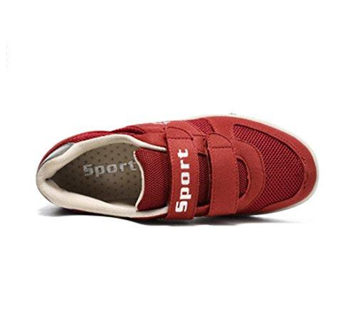 Loisir chaussure bateau basket mode hole respirant voyagé fitness antidérapage homme femme âgé Rouge