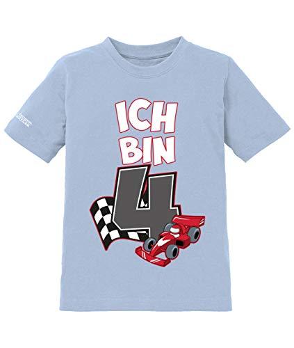 (Jayess Ich Bin 4 - Motorsport Autorennen Rennfahrer - 4. Geburtstag - Jungen - Kinder T-Shirt in Hellblau by Gr. 110/116)