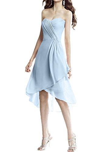 Missdressy - Robe - Plissée - Femme bleu clair