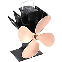Ventilador de chimenea de potencia térmica Pudincoco Ventilador de estufa de leña alimentado por calor para