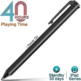Heiyo Active Stylus ipad pens, Capacitive Digital Pencil, 40hr Touchscreen Styli
