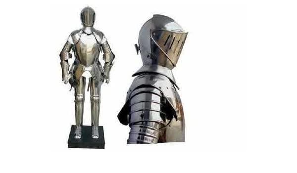 English Knight Suit Of Armour 15th Century Amazoncouk Kitchen Home