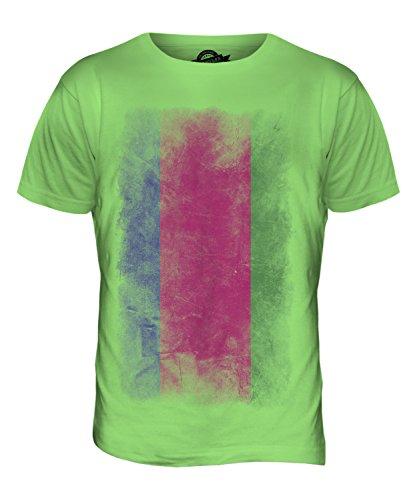 CandyMix Kuban-Gebiet Verblichen Flagge Herren T Shirt Limettengrün