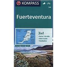Fuerteventura: 3in1 Wanderkarte 1:50000 mit Aktiv Guide und Stadtplänen. Fahrradfahren.: Wandelkaart 1:60 000 (KOMPASS-Wanderkarten, Band 240)