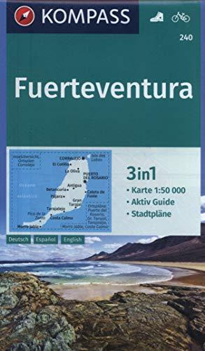 KOMPASS Wanderkarte Fuerteventura: 3in1 Wanderkarte 1:50000 mit Aktiv Guide und Stadtplänen. Fahrradfahren. (KOMPASS-Wanderkarten, Band 240)