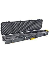 All Weather - Funda maletín para 2 rifles (137,1 cm, asas amarillas), color negro