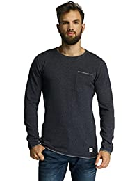 SHINE ORIGINAL Double Face O-Neck Knit, Pull Homme