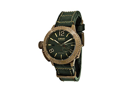 U-Boat Classico Doppiotempo Automatic Watch, Bronze, Green, 46 mm, GMT, 9088