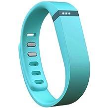 EGS - Correa y cierre de repuesto para pulsera Fitbit Flex, tamaño grande, color azul celeste