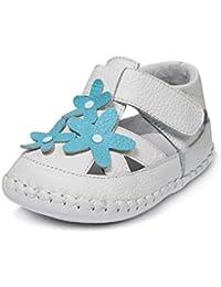 Little Blue Lamb–Zapatos para bebé unidad lernschuhe Sandalias 35613Color Blanco Turquesa, Tamaño: 18–24Meses, Color: Blanco Turquesa