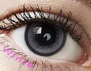 """Farbige Kontaktlinsen Jahreslinsen grau """"Grey"""" CUTIE-SERIE ohne Stärke COSPLAY LINSEN , große Augen"""
