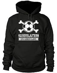 shirtloge - KAISERSLAUTERN - Ein Leben Lang - Fan-Kapuzenpullover - Größe S - 3XL