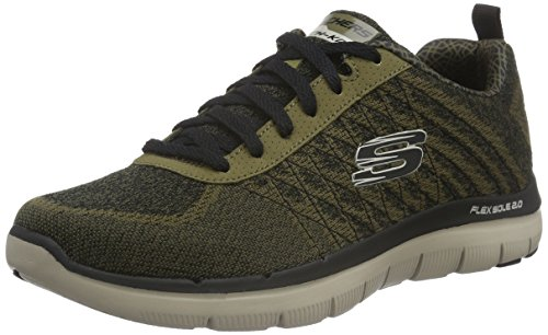 Skechers Flex Advantage 2.0 Golden Point, Baskets Basses Homme Vert - Vert olive