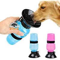 BLACK DOG Water Bottle for Pets Dog Water Bowl Bottle Sipper Portable Aqua Dog Travel Water Bottle, Bowl Auto Dog Mug…