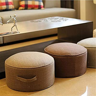windyday Mind Yogakissen Meditationskissen Rund Sitzkissen Zafu Waschbarer Bezug aus Baumwolle Höhe 20 cm Durchmesser 40 cm