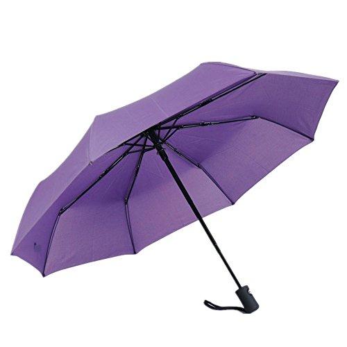 Paraguas Plegable de Viaje automático,Ligero Resistente al Viento,Apertura Automático - Compacto - 3 Pliegues