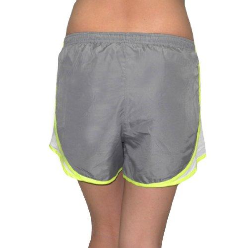 Designer Brand Femmes Dri-Fit Course à pied / Shorts de sport avec Built-In Panty gray