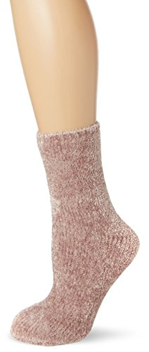 new-look-1pp-chenille-chaussettes-femme-rose-pink-light-pink-taille-unique