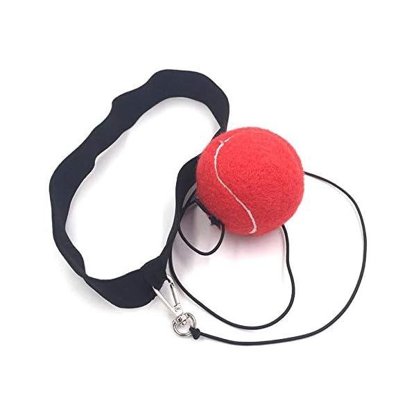 Eubi E302 Elasticity Head Band Wearing Boxing Ball Training Quick Punching (Rojo) 3