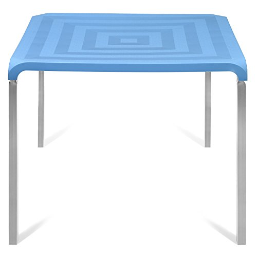 @home by nilkamal Novella 4 Seater Polypropylene Blue Dining Table  available at amazon for Rs.4500