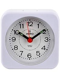 Horo Plastic Table Light Purple Radium Alarm Clock 6.4x4x6.4cm