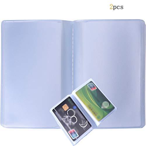 2 fundas de plástico para tarjetas de crédito