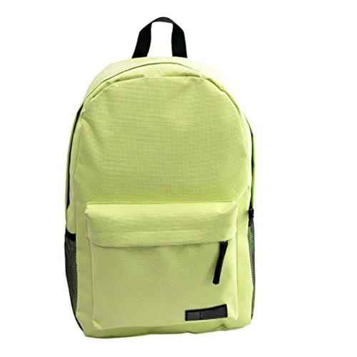 Rucksack Rcool Einfarbig Leinwand Schulranzen (Grün)