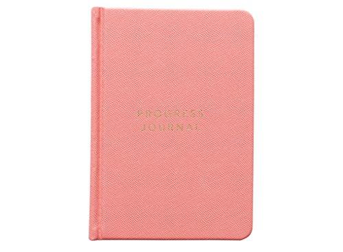 Preisvergleich Produktbild migoals Progress Tagebuch/Notizbuch, A6/208Seiten s/Hardcover/90Tage Progress Journal korallenrot