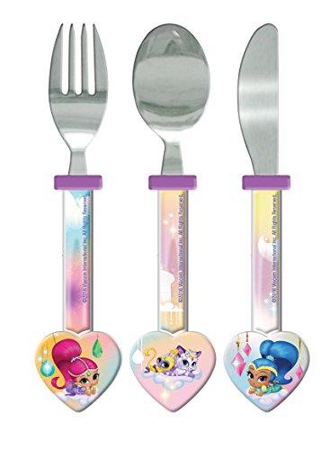Shimmer and Shine Lunch-Set, rechteckig, Plastik, weiß, 1 x 3.2 x 16 cm -
