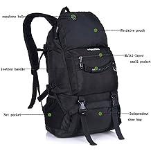Wanderrucksack Wasserdicht, LOCALLION Rucksack Männer 40L / separates Fach für Schuhe, Trekkingrucksack für Camping, Reise und Wandern