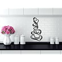 Vinilo adhesivo decorativo para pared de remolino de taza de café