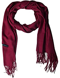 EOZY Casual Solid Color Soft Cashmere Winter Men Warm Tassels Shawl Scarf Wine
