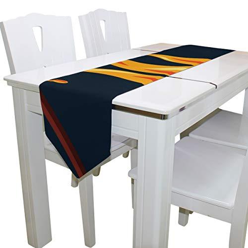 Lagerfeuer mit Marshmallow Gym Duffel Tote Wiederverwendbare Mode Duffel Tischläufer Dekor Indoor 13 x 90 Zoll