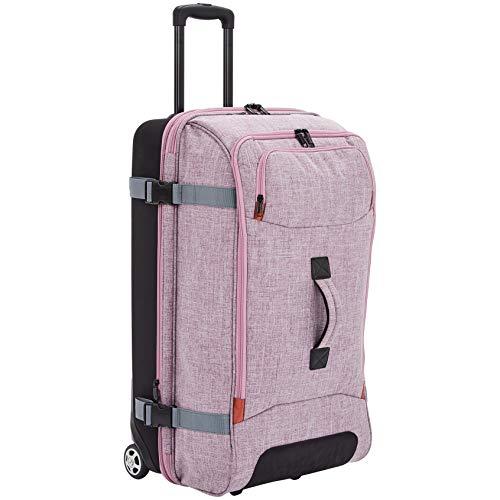 AmazonBasics - Reisetasche mit Rollen, Groß, Lila