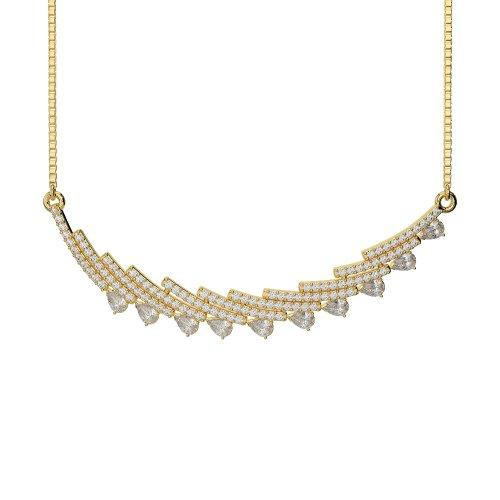 Or blanc/or jaune/Platine Diamant Collier avec chaîne ims-1771-vsgh
