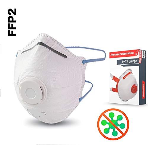 3X Atemschutzmaske FFP2 Maske Atemschutz Mundschutz Atemschutzmaske zur Prophylaxe Schmierinfektionen & Tröpfcheninfektionen (3X)