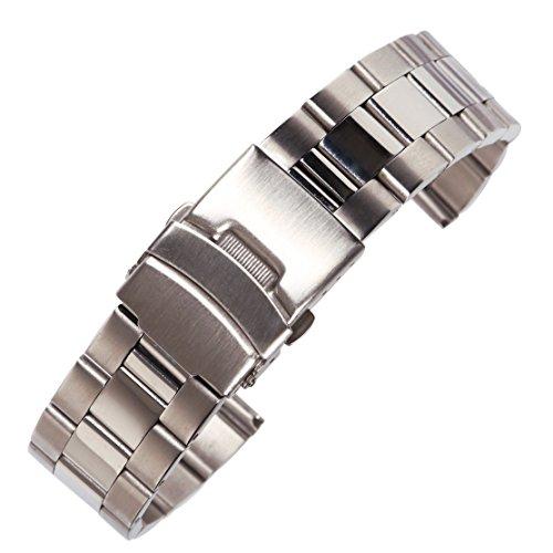AUTULET Herren Edelstahl Uhrarmband Silber- 20mm