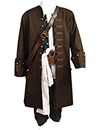 Pirates Of The Caribbean Jack Sparrow Jacke Mantel Cosplay Kostüm