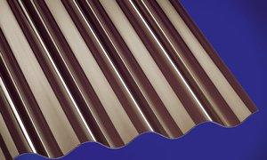 Polycarbonat Wellplatten Profilplatten Sinus 76/18 bronce ohne Struktur 5000 x 1040 mm