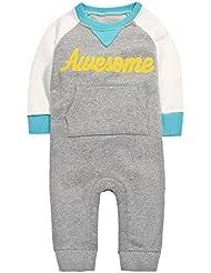 CuteOn Niño Infantil Recién nacido del Mameluco del Bebé Sudadera de Algodón | Caliente | Sweatshirt | para Otoño e Invierno