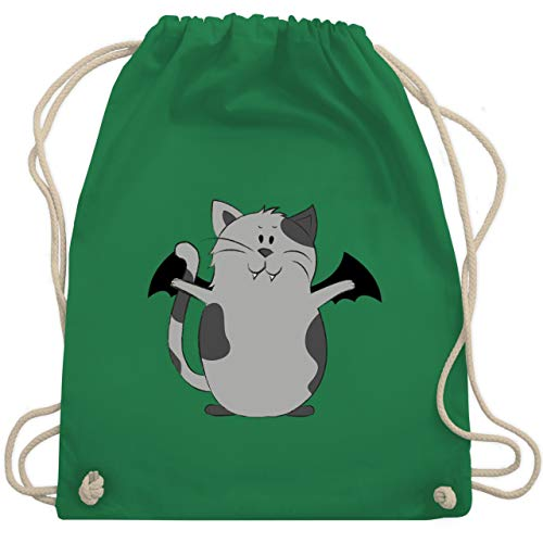 Halloween - Katze Halloween - Unisize - Grün - WM110 - Turnbeutel & Gym Bag (Katze Halloween Kostüm Ideen)