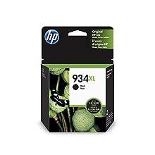 HP 934 XL C2P23AE Cartuccia Originale per Stampanti a Getto di Inchiostro, Compatibile con OfficeJet 6820; OfficeJet Pro 6230 e 6830, Nero