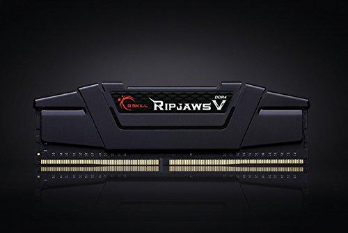 G.SKILL Ripjaws V Series F4-3200C16Q-16GVK 16 GB (4 GBx4) DDR4 3200 MHz C16 1.35 V Memory Kit - Classic Black