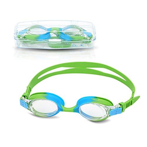 Gafas de natación para niños, Gafas de Nadar para kids y adolescentes de 3 a 15 años, niños y niñas, antiniebla, impermeables, protección UV, sin fugas