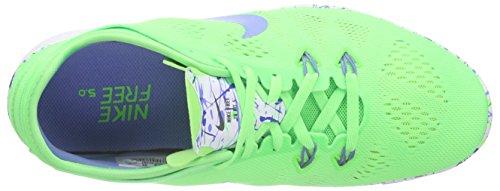 Nike Damen Free 5.0 Tr Fit 5 Prt Leichtathletikschuhe Grün (Spannungsgrün/Weiß/Kreideblau 301)