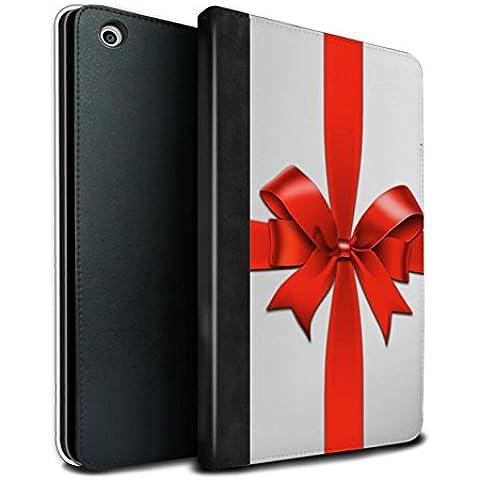 STUFF4 PU Pelle Custodia/Cover/Caso Libro per Apple iPad Mini 1/2/3 tablet / Bianco / Regalo di Natale disegno
