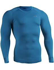 emFraa Homme Femme Compression thermal Ski Base layer Shirt manches longues S~2XL