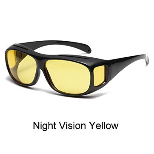 ZHOUYF Sonnenbrille Fahrerbrille Hd Vision Wrap Around Nachtsichtbrille Gelb Autofahrer Brille Männer Frauen Uv400 Schutz Blendschutzbrillen, B