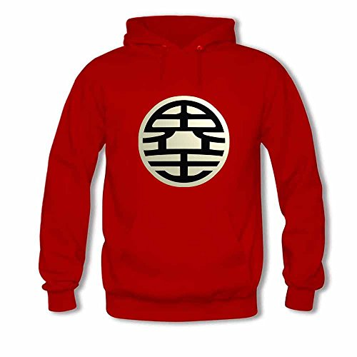 Womens Hooded Sweatshirt Dragon Ball z King Kai Logo Hoodies XL
