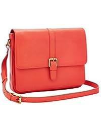 Generic Women's & Girl's Leather Sling Handbag (Red)